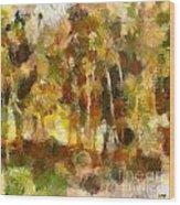 Autumn Impression 1 Wood Print
