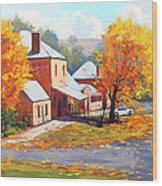 Autumn In Carcor Wood Print