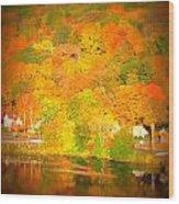 Autumn In Collinsville Connecticut  Wood Print