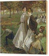 Autumn In Kensington Gardens Wood Print