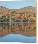 Autumn In Killington Vermont Wood Print