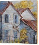 Autumn In La Garde Wood Print