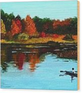 Autumn In Michigan Wood Print
