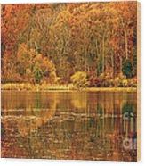 Autumn In Mirror Lake Wood Print