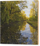 Autumn In Morrisville Pa Along The Delaware Canal Wood Print