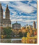 Autumn In New York City Wood Print