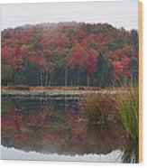 Autumn In Northern Vermont Wood Print