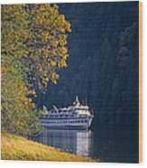 Autumn In Princess Louisa Inlet Wood Print