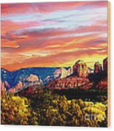 Autumn In Red Rock State Park Wood Print