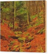 Autumn In Sproul State Forest Wood Print