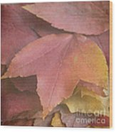 Autumn In Textures Wood Print