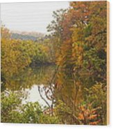 Autumn In The Butternut Valley-five Wood Print
