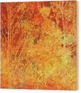 Autumn In The Country Wood Print