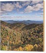Autumn In The Blue Ridge Mountains Wood Print