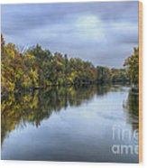 Autumn In The River Wood Print