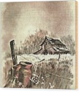 Autumn In View At Mac Gregors Barn Wood Print