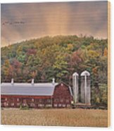 Autumn In Wellsboro Wood Print