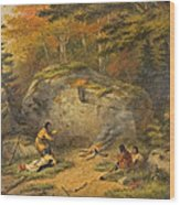 Autumn In West Canada Chippeway Indians Wood Print
