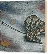 Autumn Is Around The Corner Wood Print