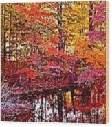 Autumn Is Too Hot Wood Print