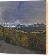Autumn Journey Wood Print