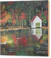 Autumn - Lake - Reflecton Wood Print