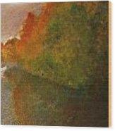 Autumn Lake View  Wood Print