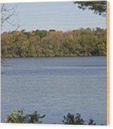 Autumn Lakeside Wood Print