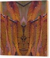 Autumn Leaves 03 Mirror Image Wood Print