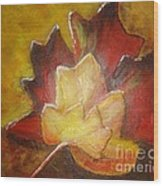 Autumn Leaves 2 Wood Print by Elena  Constantinescu