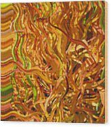 Autumn Leaves 5 - Abstract Photography - Manipulate Images Wood Print