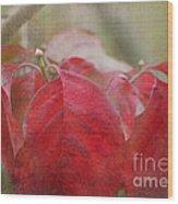 Autumn Leaves Blank Greeting Card Wood Print