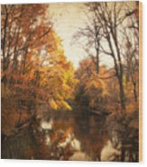Autumn Lingers Wood Print