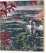 Autumn Love Wood Print