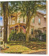 Autumn Mansion 4 - Paint Wood Print