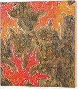 Autumn Maple Leaves Wood Print