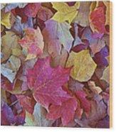 Autumn Maple Leaves - Phone Case Wood Print