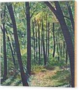 Autumn Meditation Wood Print