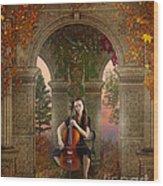 Autumn Melody Wood Print