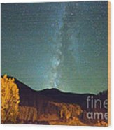 Autumn Milky Way Wood Print