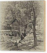 Autumn Mill 2 Antique Wood Print