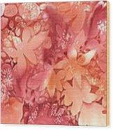 Autumn Monochrome Wood Print