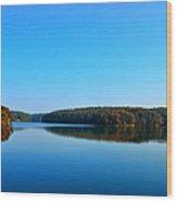 Autumn Moon At Argyle Lake Wood Print