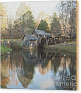 Autumn Morning At Mabry Mill Wood Print