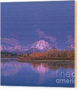 Autumn Morning Grand Tetons National Park Wyoming Wood Print