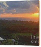 Autumn Morning Over Wailua Wood Print