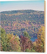 Autumn Mountain Wood Print