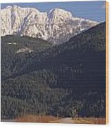 Autumn Snowcapped Mountain - Golden Ears - British Columbia Wood Print