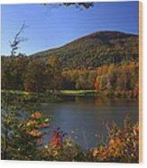 Autumn Mountain View Wood Print