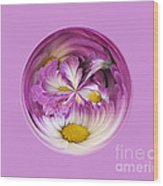 Autumn Mum Orb Abstract Wood Print